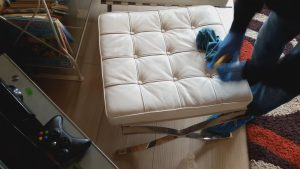 Няколко закона при почистване на кожени мебели